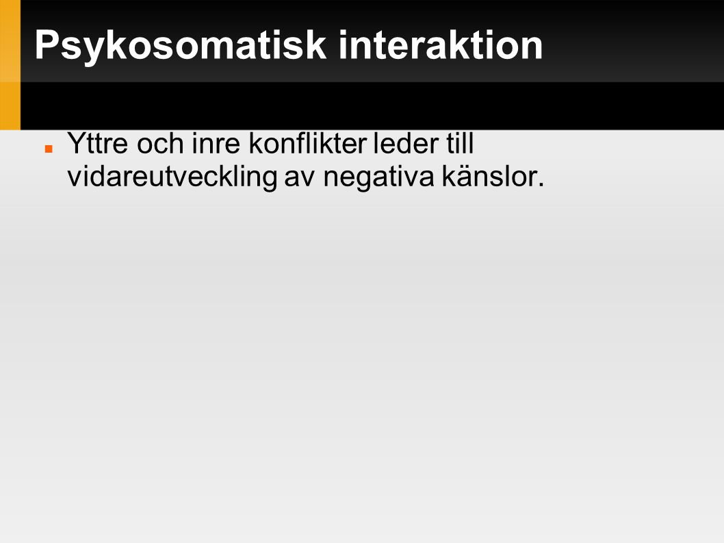 Psykosomatisk interaktion