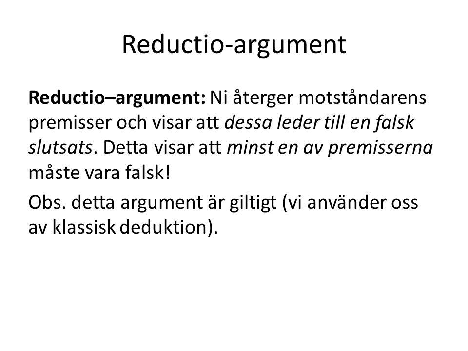 Reductio-argument