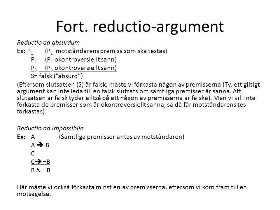 Fort. reductio-argument