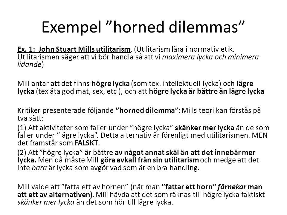 Exempel horned dilemmas