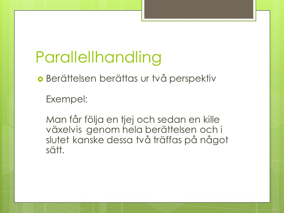 Parallellhandling