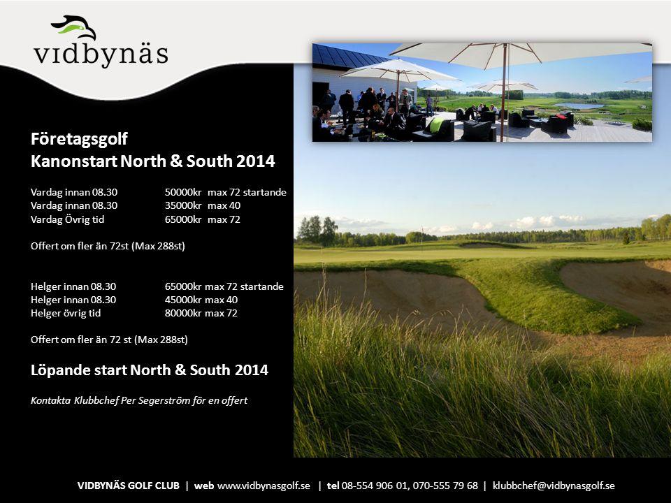 Företagsgolf Kanonstart North & South 2014