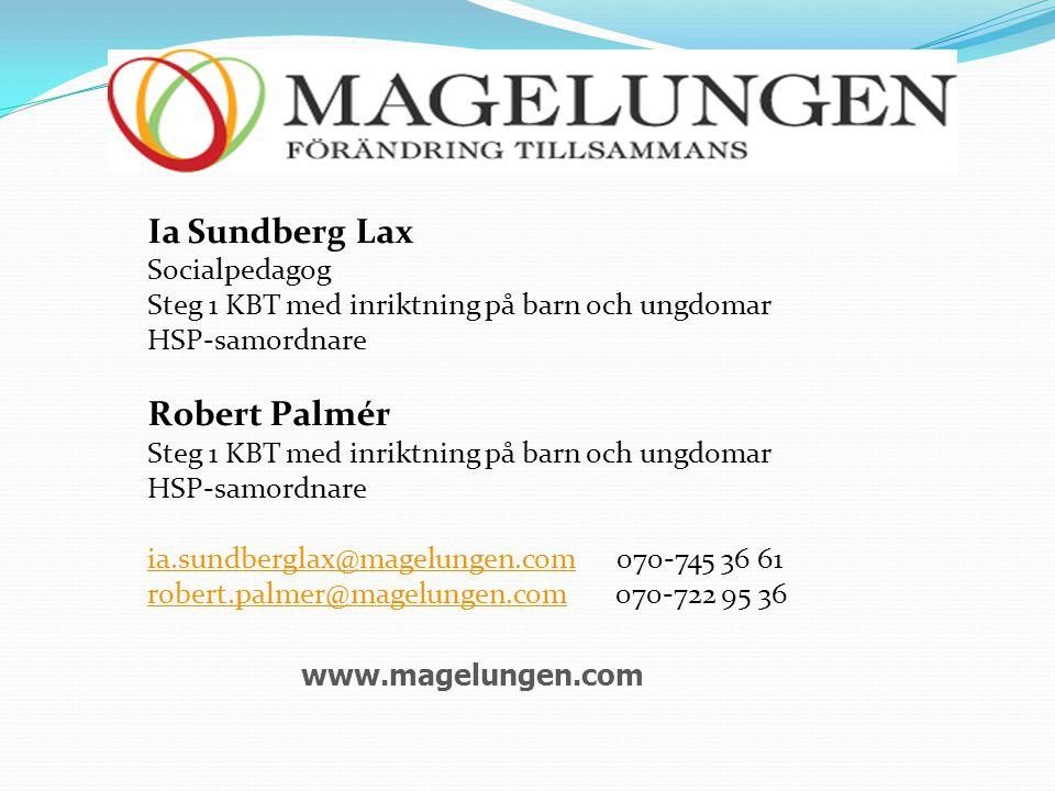 Ia Sundberg Lax Robert Palmér Socialpedagog