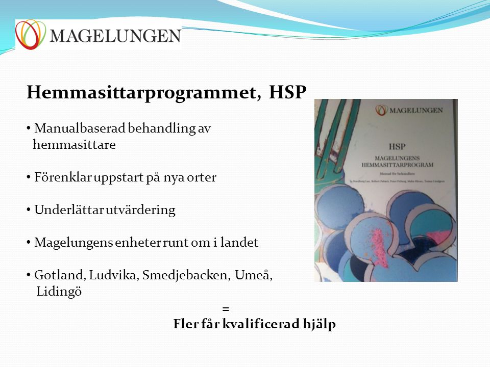 Hemmasittarprogrammet, HSP