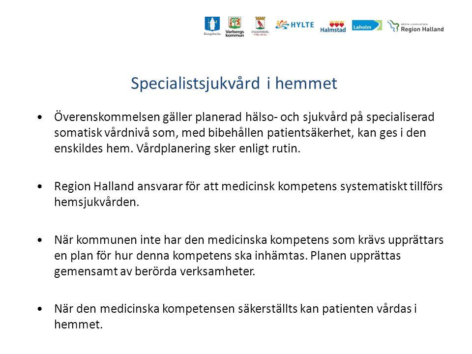 Specialistsjukvård i hemmet