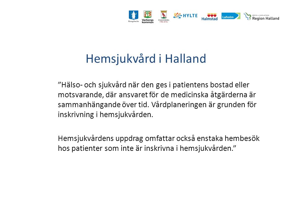Hemsjukvård i Halland