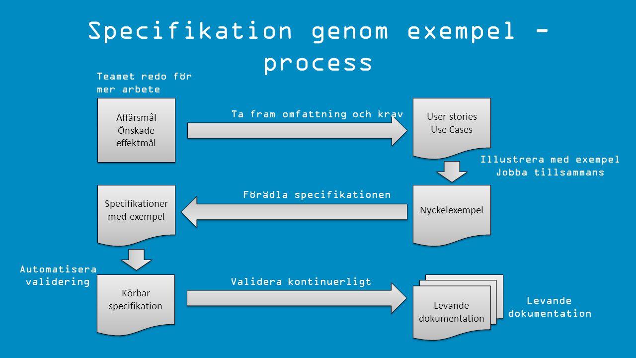 Specifikation genom exempel - process