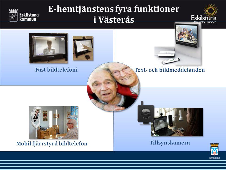 E-hemtjänstens fyra funktioner i Västerås