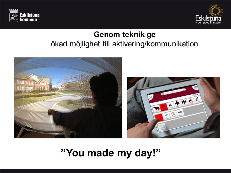 Genom teknik ge ökad möjlighet till aktivering/kommunikation