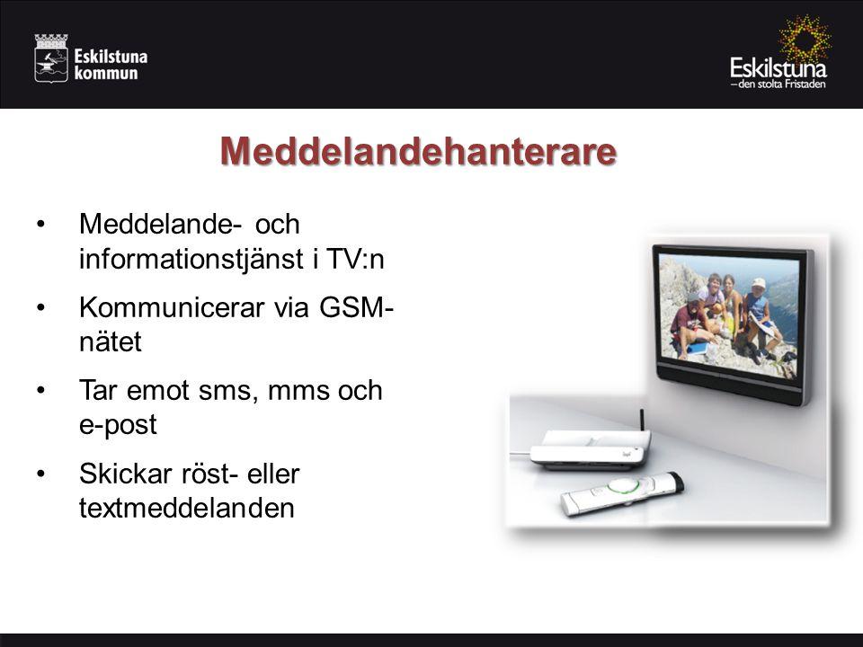 Meddelandehanterare Meddelande- och informationstjänst i TV:n