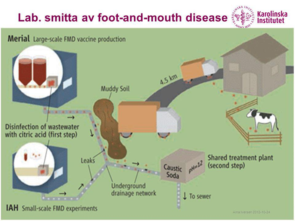Lab. smitta av foot-and-mouth disease