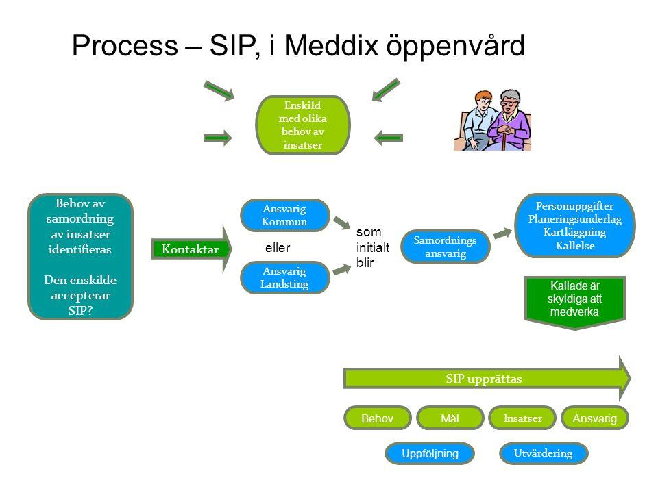 Process – SIP, i Meddix öppenvård
