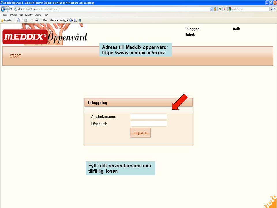 Adress till Meddix öppenvård: