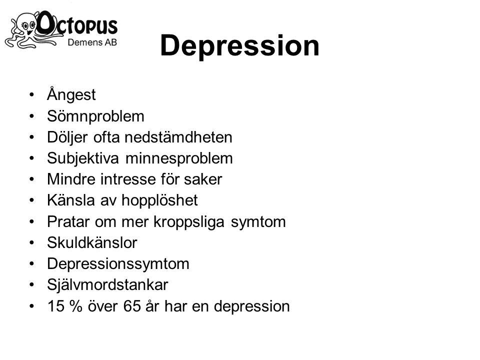 Depression Ångest Sömnproblem Döljer ofta nedstämdheten