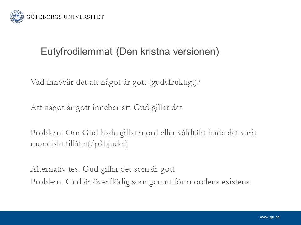 Eutyfrodilemmat (Den kristna versionen)