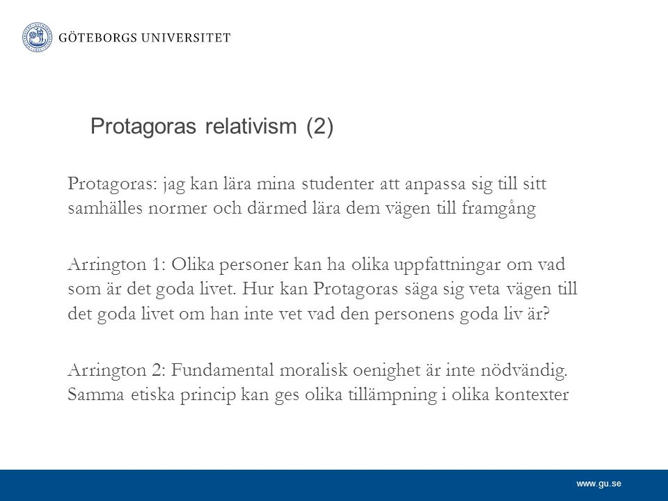 Protagoras relativism (2)