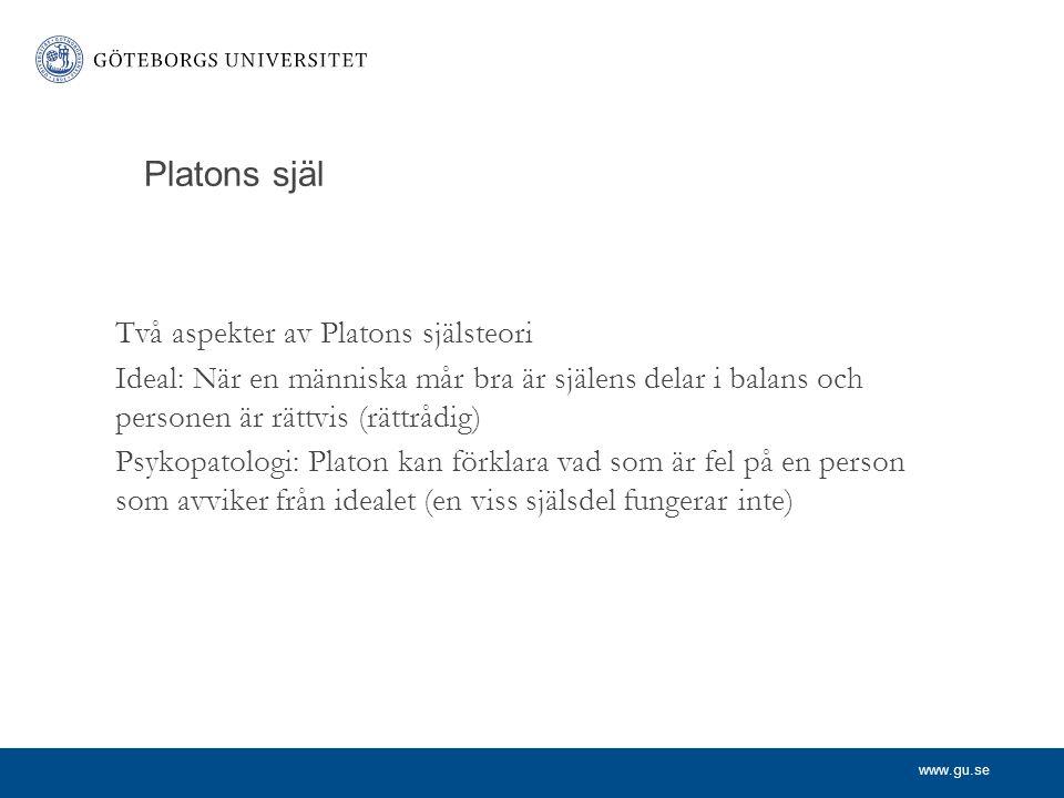 Platons själ Två aspekter av Platons själsteori