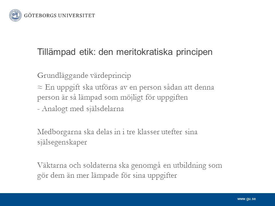 Tillämpad etik: den meritokratiska principen