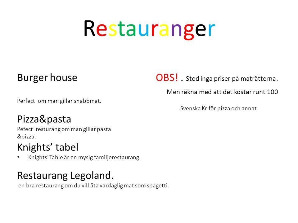 Restauranger Burger house OBS! . Stod inga priser på maträtterna .