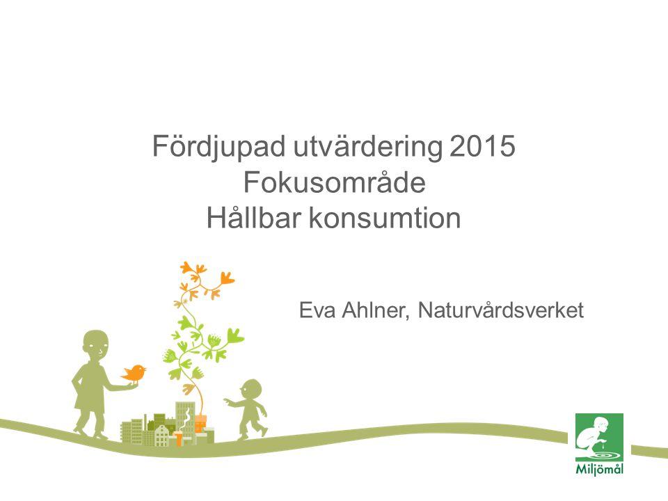 Fördjupad utvärdering 2015 Fokusområde Hållbar konsumtion