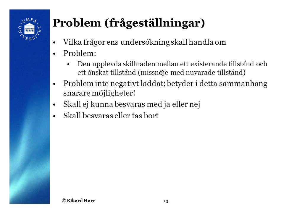 Problem (frågeställningar)