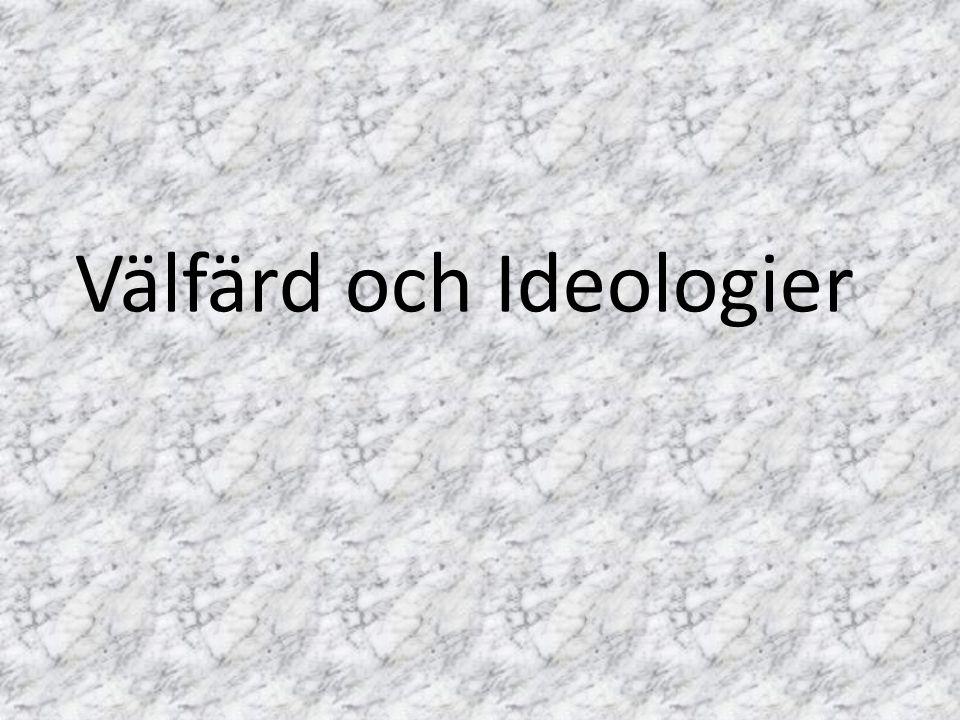 Välfärd och Ideologier