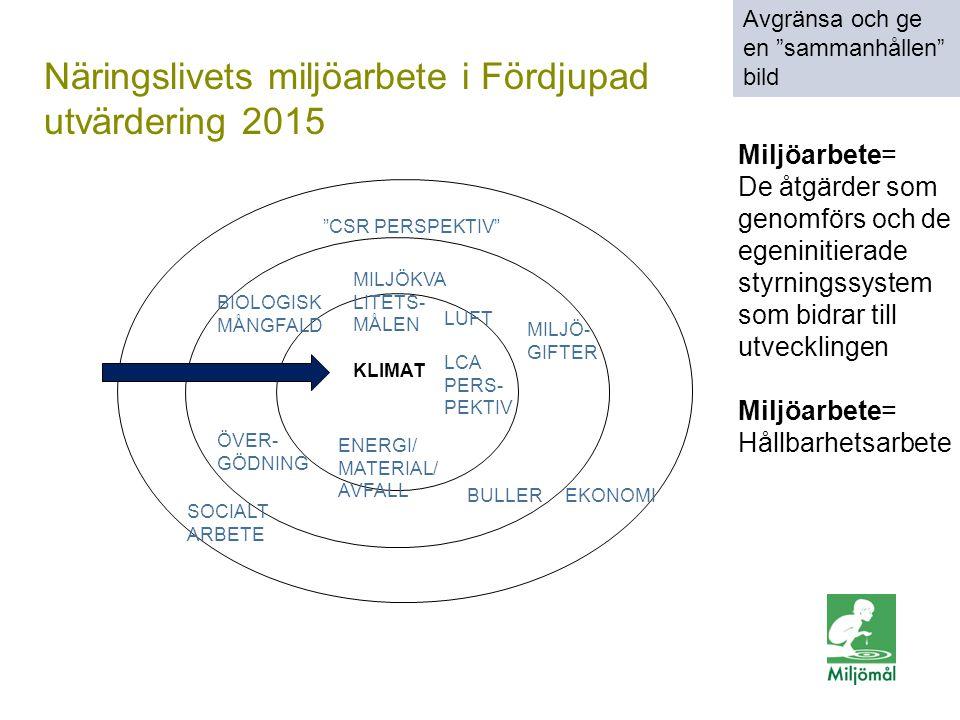 Näringslivets miljöarbete i Fördjupad utvärdering 2015