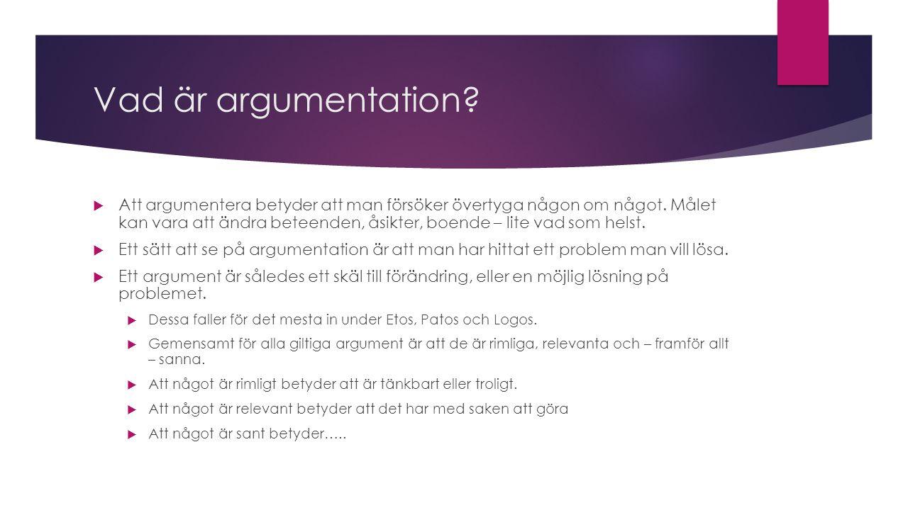 Vad är argumentation