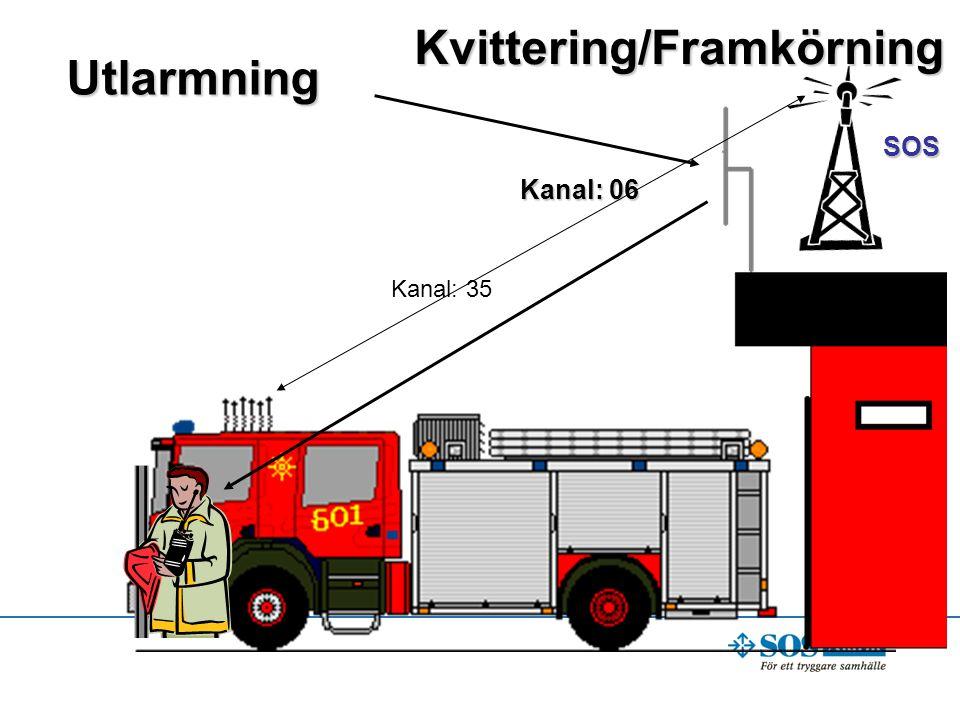 Kvittering/Framkörning Utlarmning