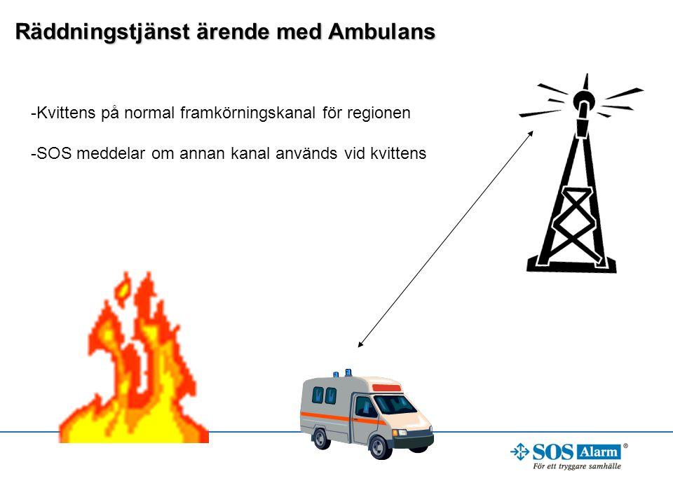 Räddningstjänst ärende med Ambulans