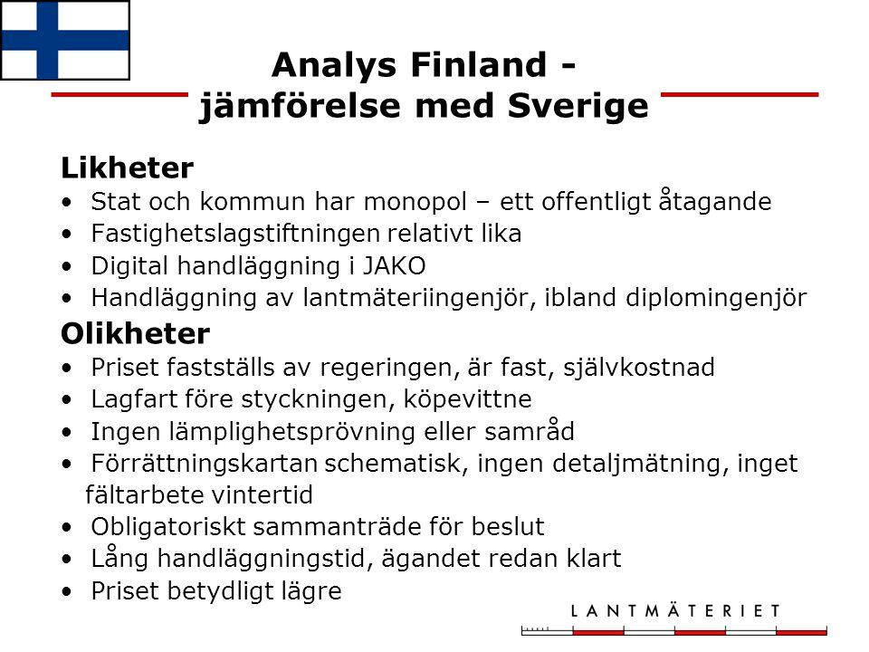 Analys Finland - jämförelse med Sverige