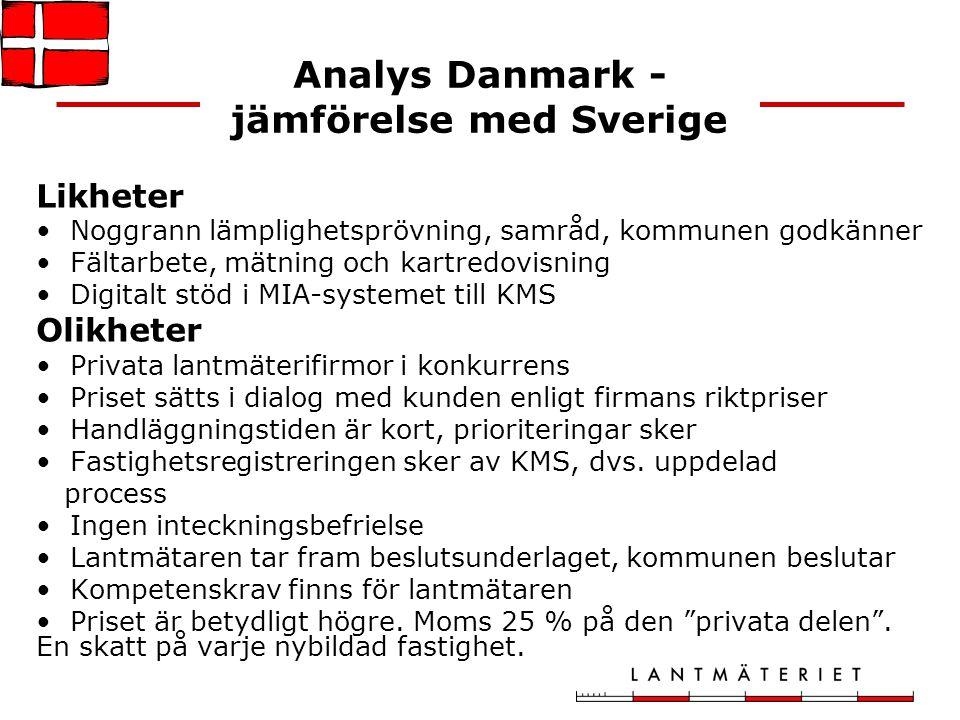 Analys Danmark - jämförelse med Sverige