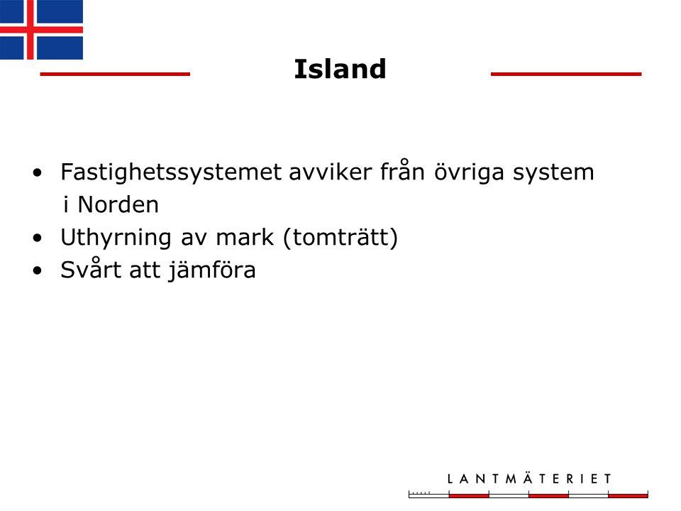Island Fastighetssystemet avviker från övriga system i Norden