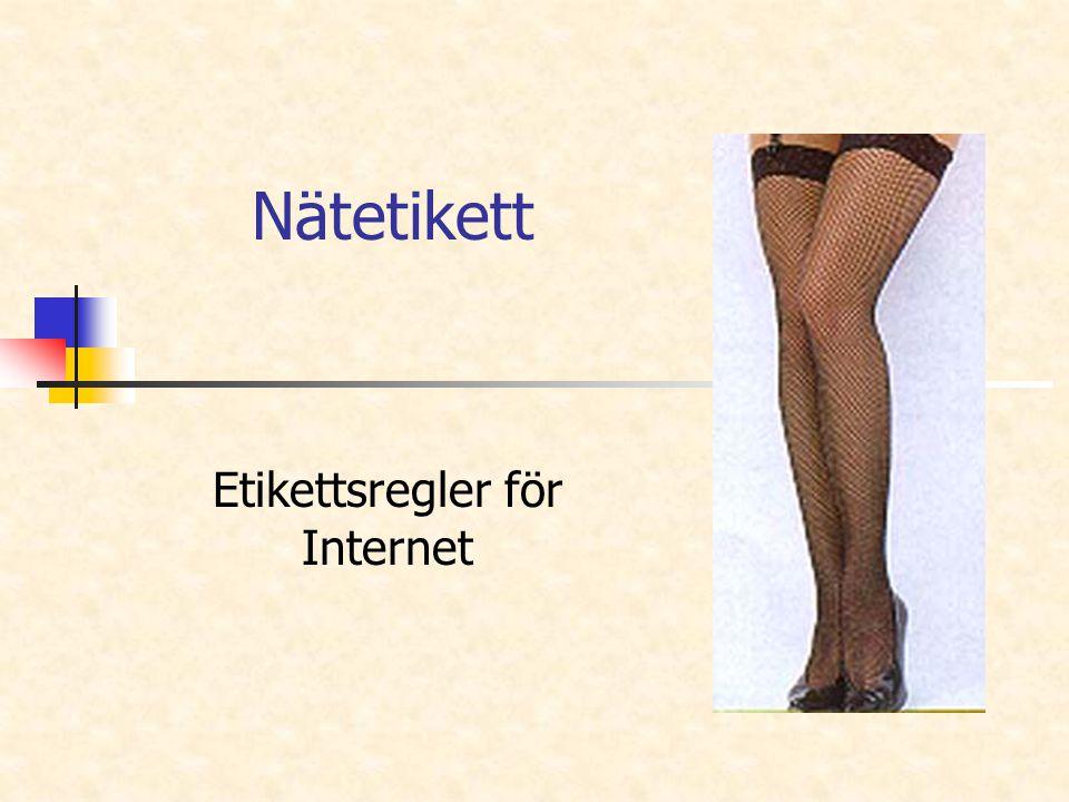 Etikettsregler för Internet
