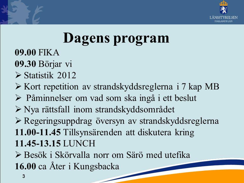 Dagens program 09.00 FIKA 09.30 Börjar vi Statistik 2012