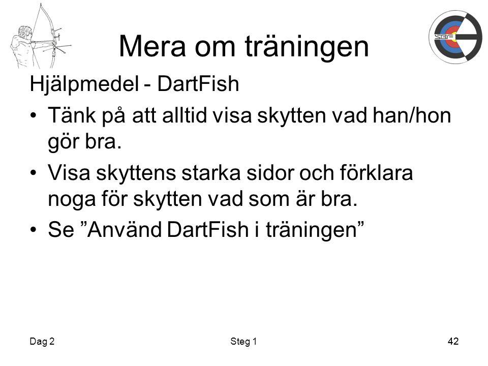 Mera om träningen Hjälpmedel - DartFish