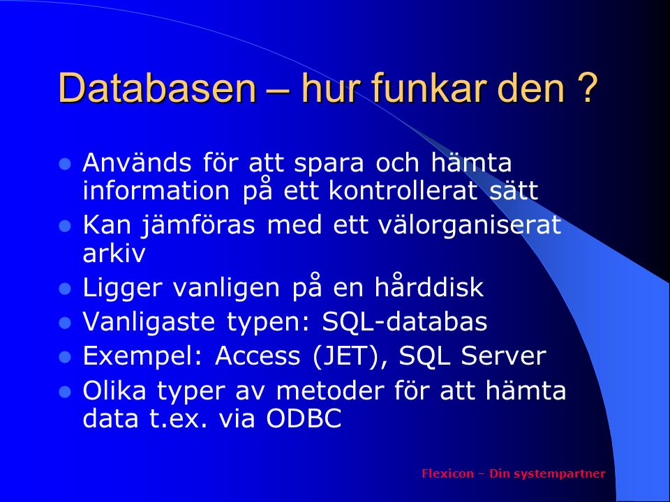 Databasen – hur funkar den