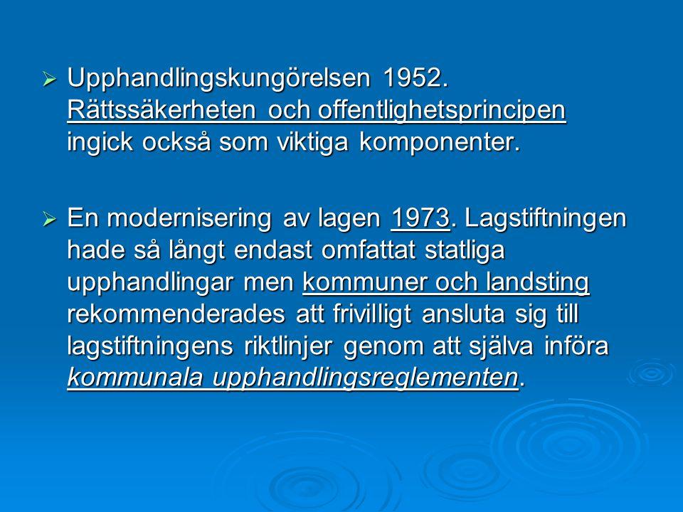 Upphandlingskungörelsen 1952
