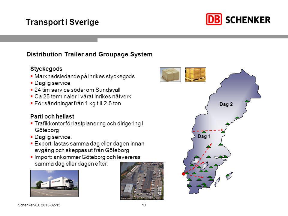 Transport i Sverige Distribution Trailer and Groupage System