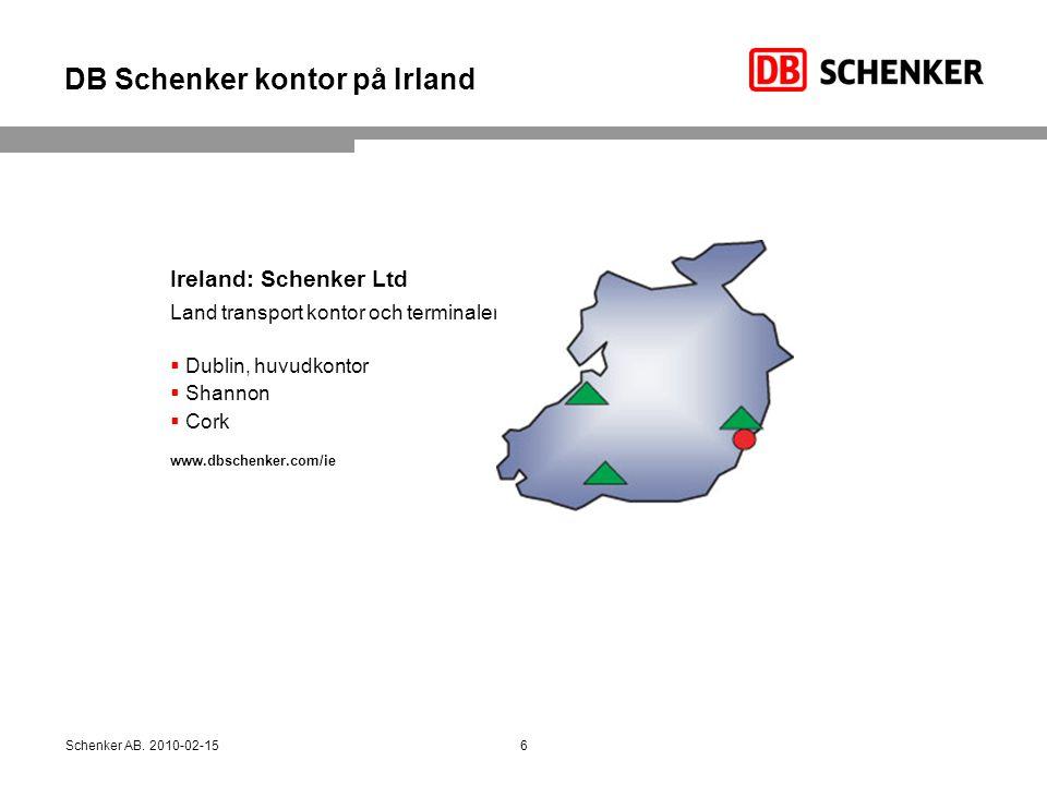 DB Schenker kontor på Irland