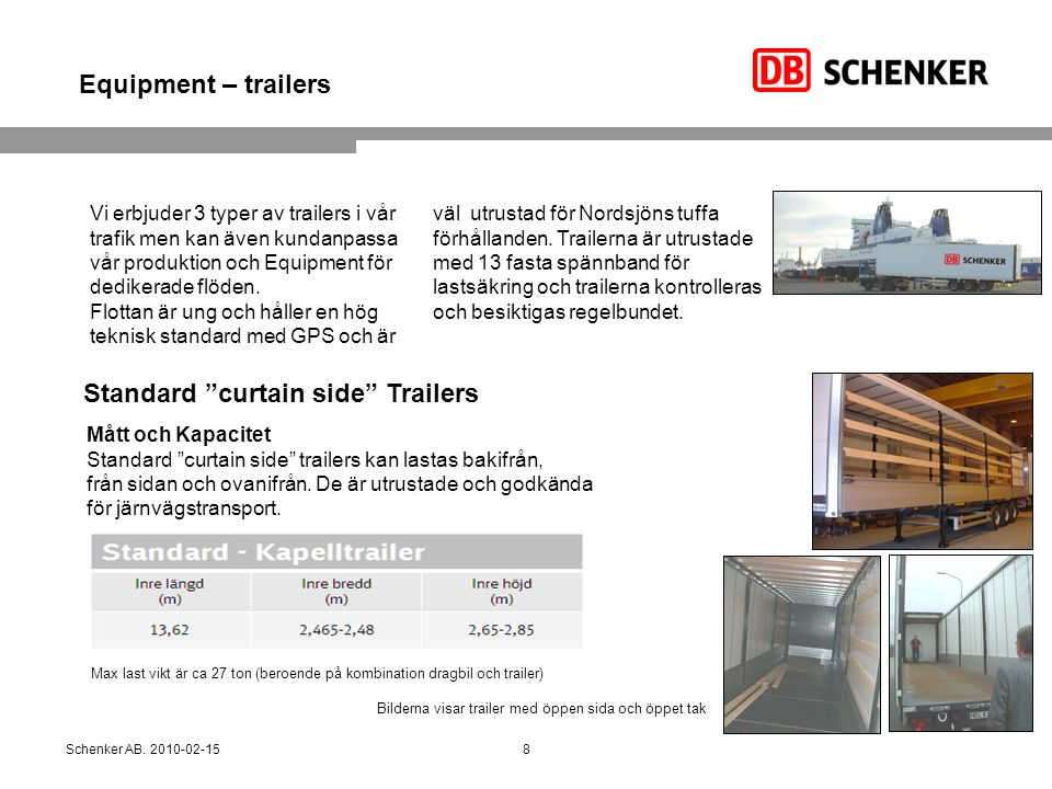Standard curtain side Trailers