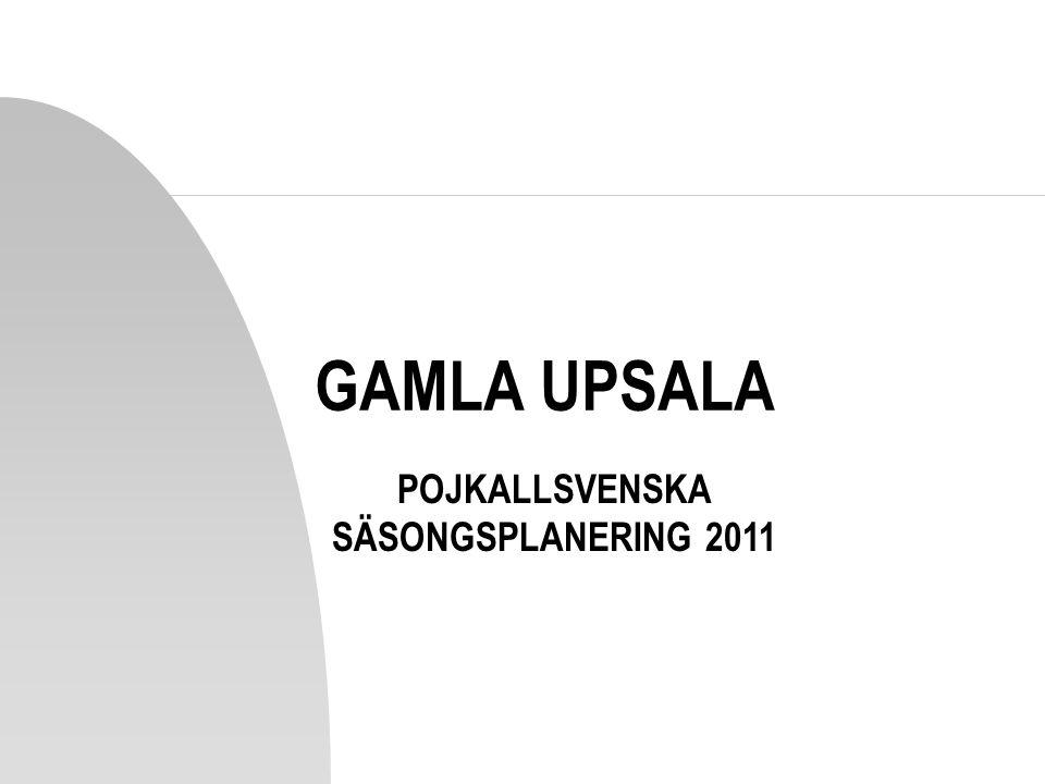 POJKALLSVENSKA SÄSONGSPLANERING 2011