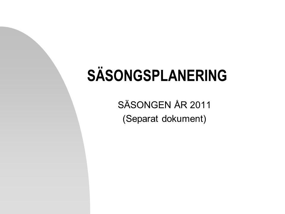 2017-04-08 SÄSONGSPLANERING SÄSONGEN ÅR 2011 (Separat dokument)