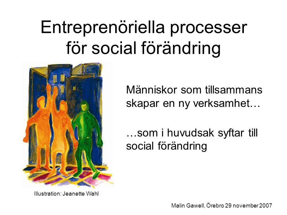 Entreprenöriella processer för social förändring