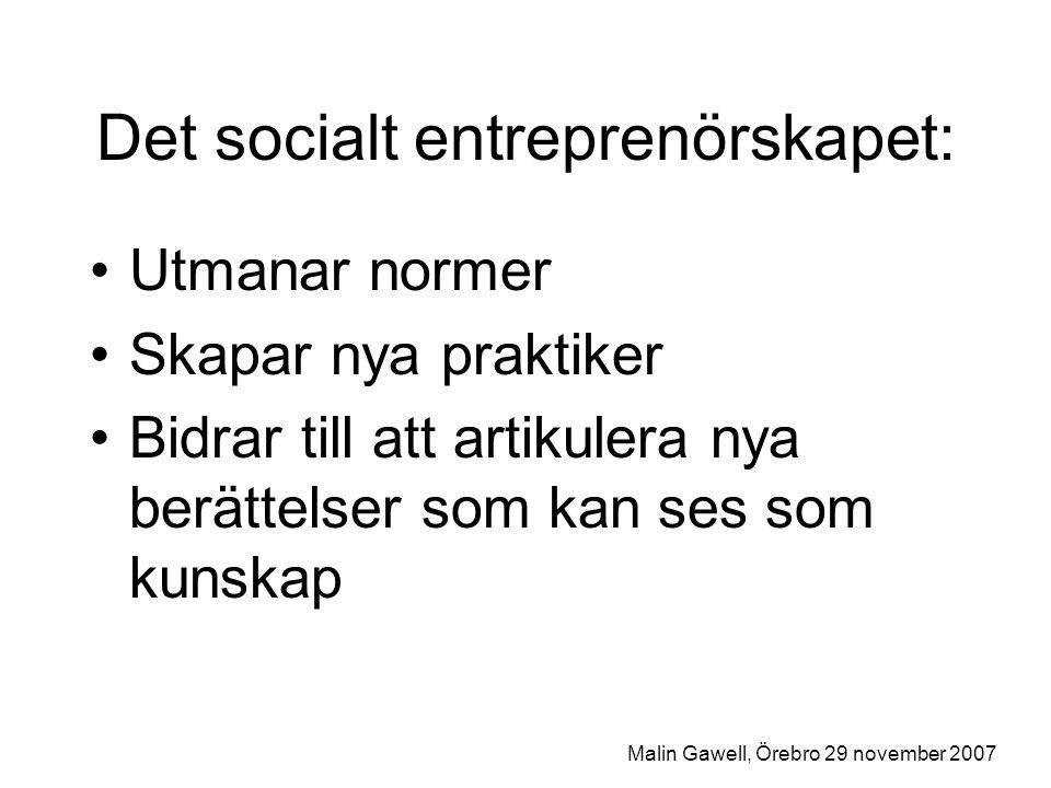 Det socialt entreprenörskapet: