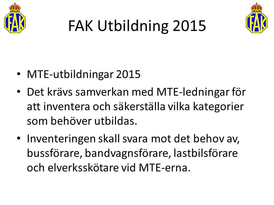 FAK Utbildning 2015 MTE-utbildningar 2015