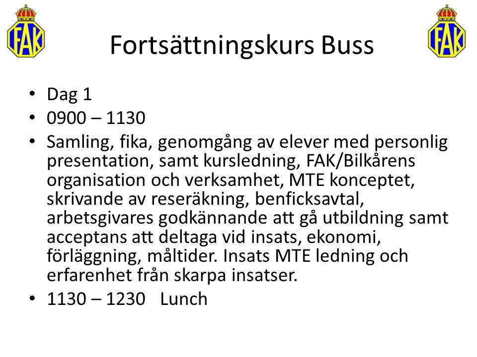 Fortsättningskurs Buss