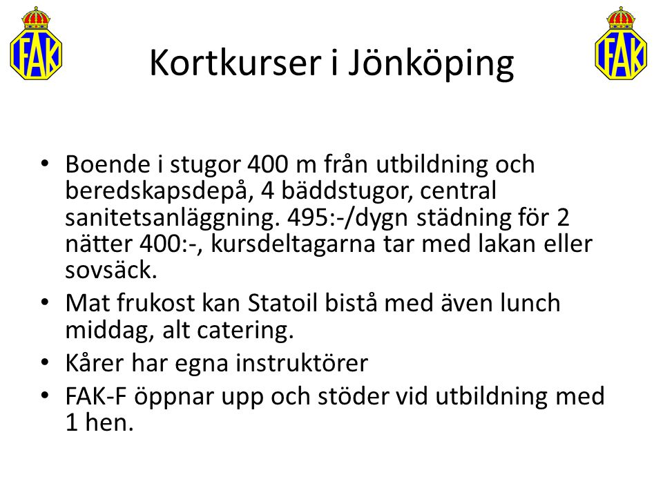 Kortkurser i Jönköping