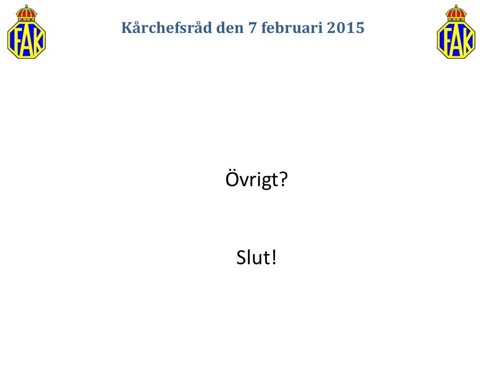 Kårchefsråd den 7 februari 2015