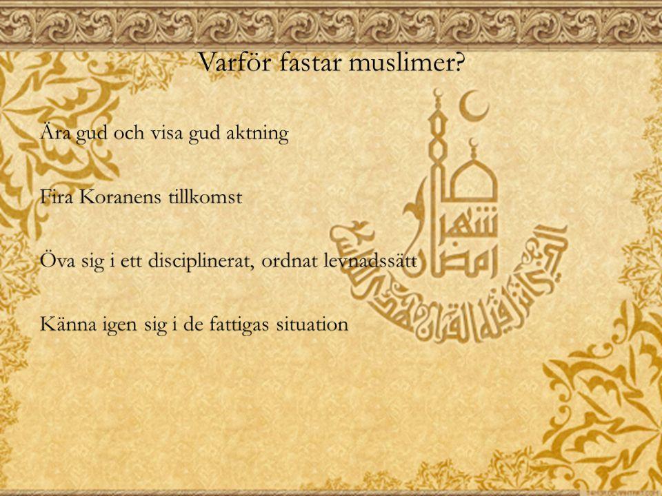 Varför fastar muslimer